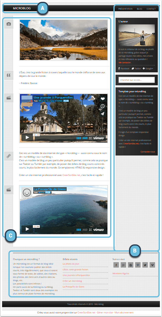 structure-accueil-template-microblog