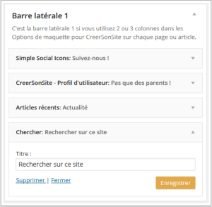 exemple de Widget WordPress