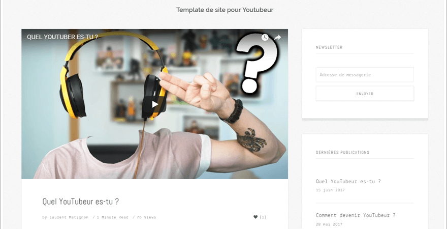 site youtubeur